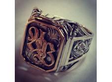 мужское кольцо с монограммой