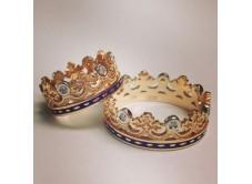 """кольцо """"КОРОНА"""" с эмалью и камнями"""