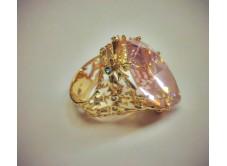 перстень женский в лимонном золоте